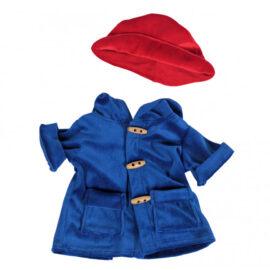 CuddleBear Blauwe jas met rode hoed