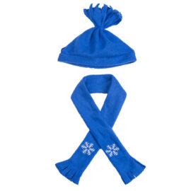CuddleBear blauwe sjaal en muts
