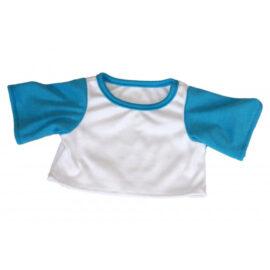 CuddleBear wit t-shirt met blauwe mouwen