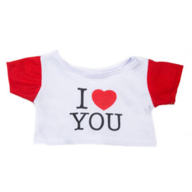 CuddleBear wit t-shirt met I love you print